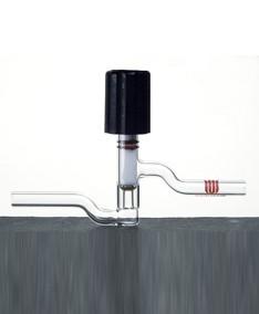 Ventil, Vakuum, PTFE-Spindel, O-Ring, 180°