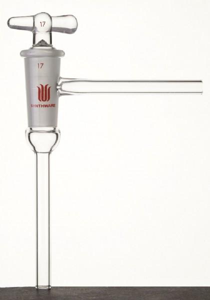 Hahn S71, Glas, hohler Hahnküken, einweg, Vakuum, 90°