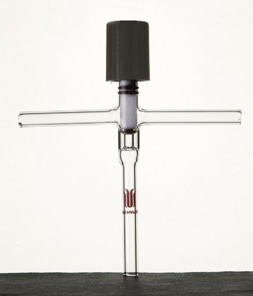 Ventil S59, Vakuum, PTFE-Spindel, O-Ring, T-förmig