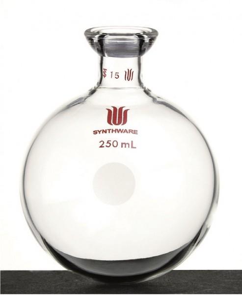 Flask F30V, 1-neck, round bottom, #15 O-ring joint