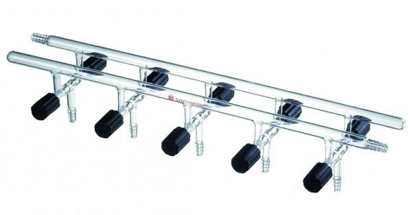 Manifold M14, vacuum valves, double