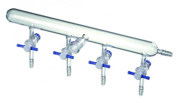 Verteilerrechen, Stickstoff/Argon, PTFE-Hähne, M54