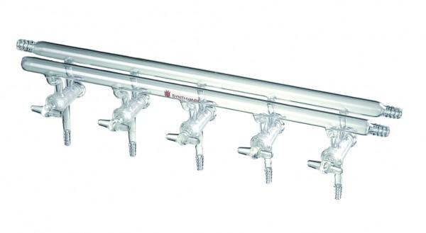 Manifold M45, hollow glass stopcocks, double