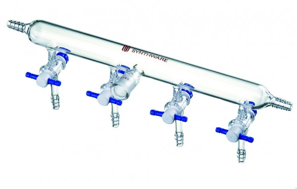 Verteilerrechen, Stickstoff/Argon, PTFE-Hähne, M21