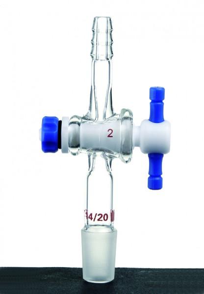 Übergangsstück A70, PTFE-Küken, Vakuum/Gas